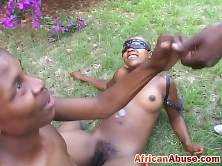 Bald African slave girl missionary black cock