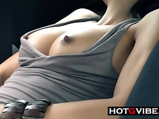 Eurobabe GSpot Squirt In Car