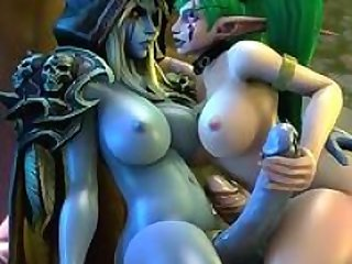 Warcraft muff hammering and plus futanari sex