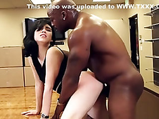 China girl sex in the office with Black cock