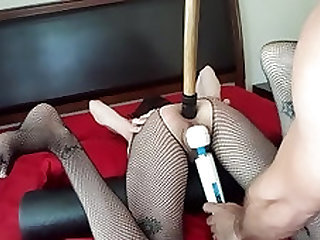 Slave Ruby anal dildo training