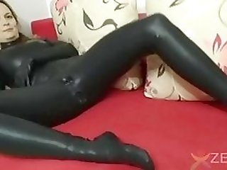 Latex Catsuit with kondoms