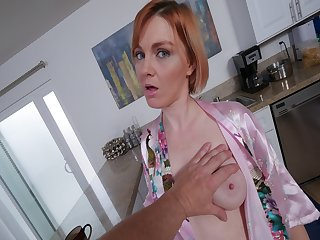 Pervy stepson grab Mary McCays natural tits