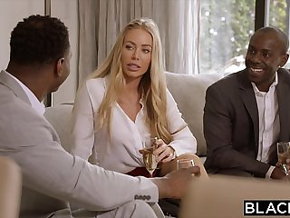 BLACKED Nicole Aniston Is Double Teamed By BBC On Her D...