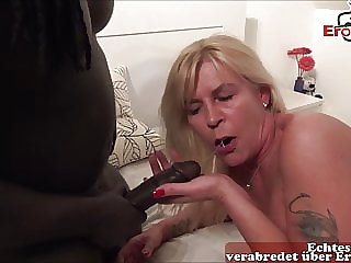 Real german blonde housewife milf make Userdate with bbc