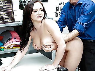 Macey Jade Gets Cavity Search In Backroom