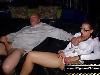 wank in the porn cinema