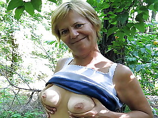 71yo Grandma Elisa Seduced to Public Sex by Young Guy