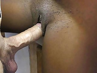 African housemaid creampied by white daddy's cock