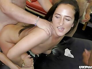 Gorgeous Isaballa and Classy get fucked at a gangbang party