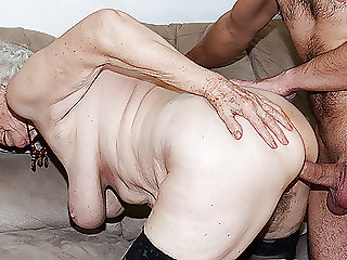 91 years old grandma fucked by toyboy