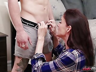 Stepmom Sofie Marie Fucked By Stepson And Husband In Threesome