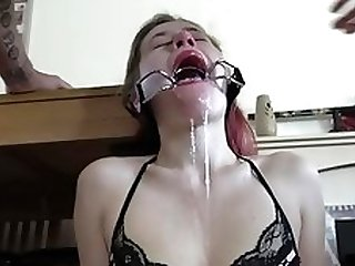 open mouth gag facefuck deepthroat