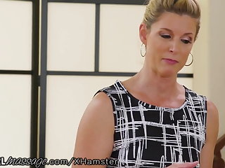 Naughty Teen Elsa Jean Massaged by Hot MILF Teacher