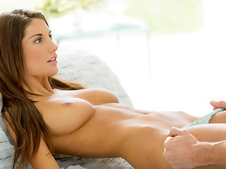 Busty babe August enjoys passionate sex