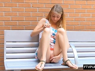 Big pussy lips teen in school campus