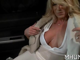 slamming hot blonde cougar needs  a feast on a sausage