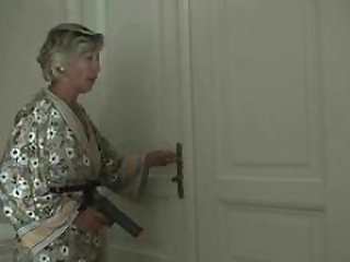 A couple of robbers get down and dirty attractive mature woman