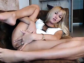 Hot blonde masturbation with toys