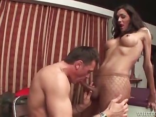 Trannies that like to cum on their men