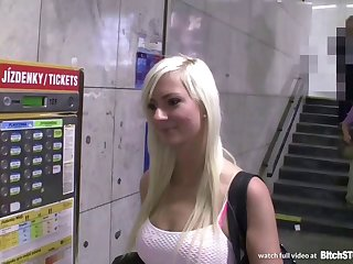 Bitch STOP - Hot Czech blonde with squirting pussy