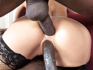 Aleska Diamond Interracial DP