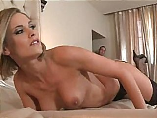 cumshot, sex, blonde, stockings, blowjob, kendall brooks, hot, anal, threesome, french