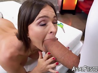 Super-Fucking-Hot model Krissy Lynn with a phat donk is taken after dressing