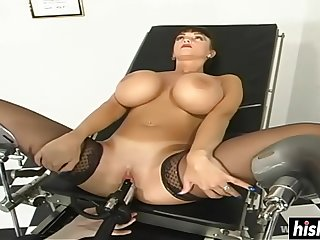 Busty chick got punished with toys