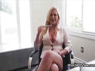 Future secretary cocked at job interview