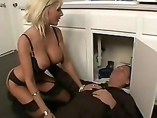 Cougar and lucky plumber