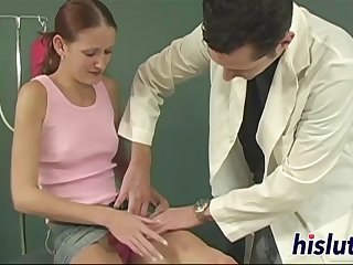 Lusty bitch gets nailed by her doctor