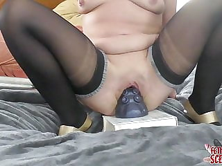 My Wife fucks Herself with a Novelty Octopussy Dildo