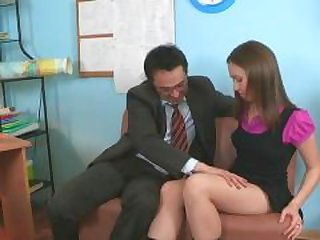 Wild pleasuring for old teacher