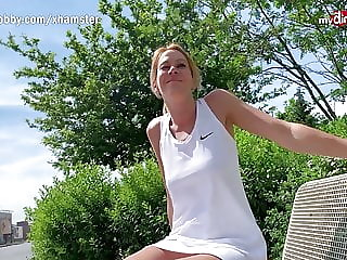 MyDirtyHobby - German blonde MILF outdoor creampie