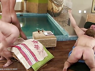 Matures try special spa with anal deep massage