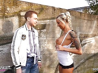 Virgin Boy get First Fuck by German Perfect Teen Anni Angel