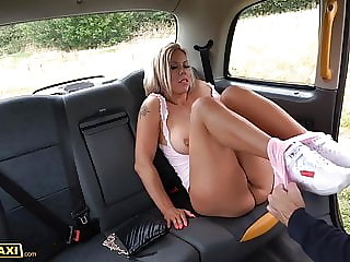 Fake Taxi Big boobs MILF Bianca Finnish fucks for free ride