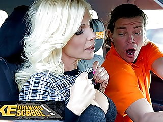 Fake Driving School Blonde MILF Tiffany Russo Fucks