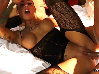 Real German Hooker Anni Pay for Privat Group with 5 Stranger