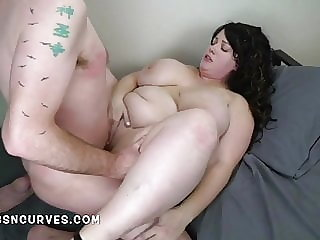 Huge tits landlady catches her lodger jerking off