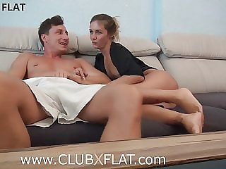 CLUBXFLAT- Young couple films with GoPro