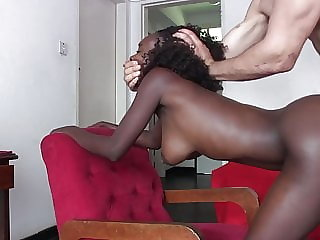 Black amateur's anal porn fantasy comes true in casting