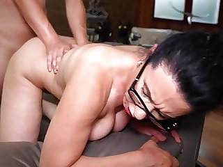 Naughty hairy mom Sofia Siena seduce lucky son