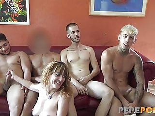 The time has come: LYDIA GANG FUCKED BY 4 DUDES!!