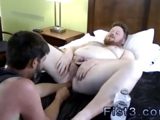 Gay sex tapes male movie star Sky Works Brock's Hole with his Fist