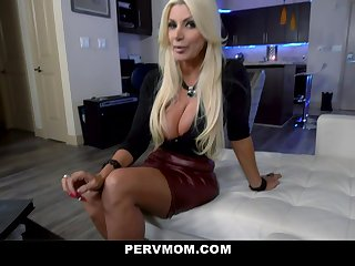 PervMom - Stepmom With Big Tits Deepthroats Her Stepson's Big Dick